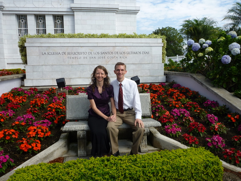 Jen and Brandon at the Temple