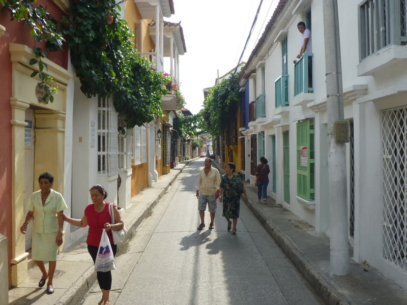 Street in Old town Cartagena