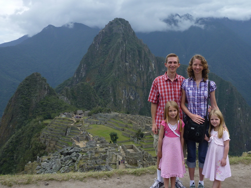Family at Machu Picchu