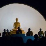 Buddhist monks chanting