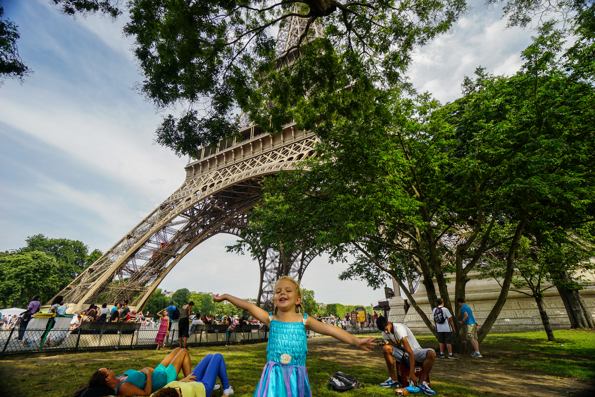 At the Eiffel Tower in Paris, France