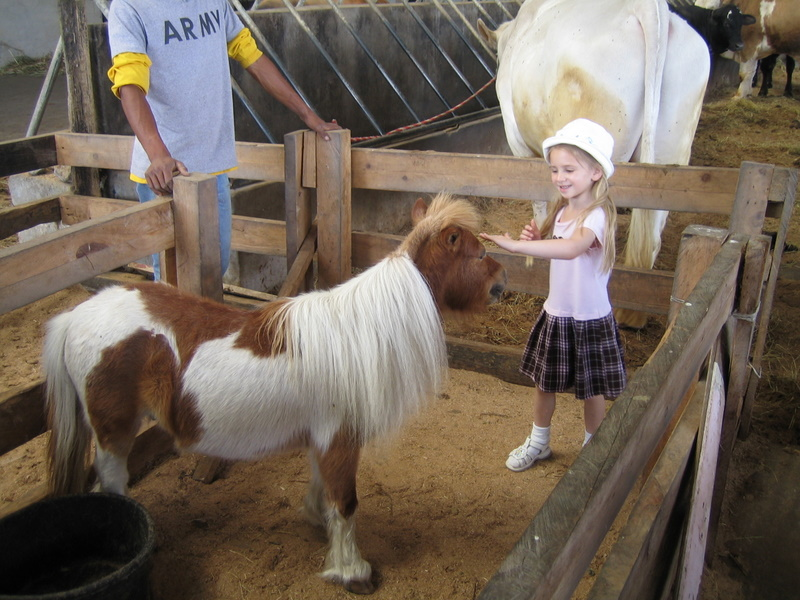 Emily with miniature pony