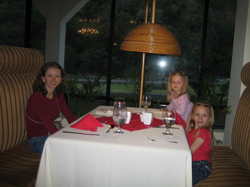 Dinner at Hotel Bambito