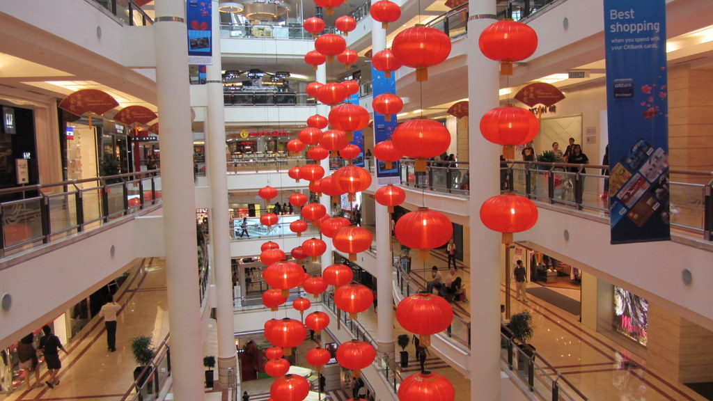 Chinese New Year mall decor | Pearce On Earth