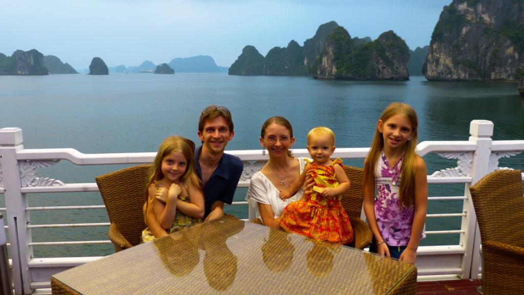 Pearce Family at Halong Bay