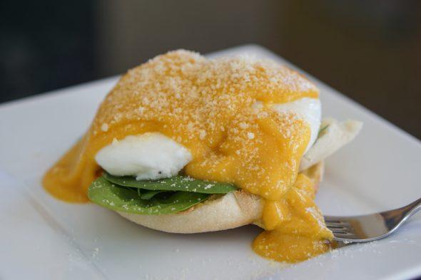 Jen's homemade eggs Florentine